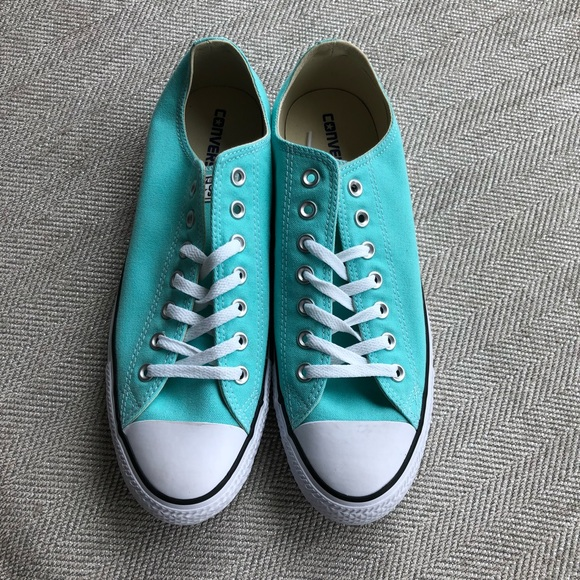 cdfdb6917db8bc Converse All Star Chuck Taylor Low Tops Light Aqua